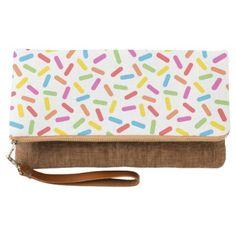 Rainbow Sprinkles Clutch - birthday gifts party celebration custom gift ideas diy