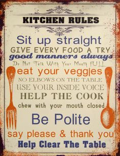 Found it at Wayfair - Kitchen Rules Sign Wall Decor