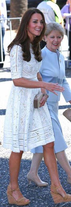 Kate Middleton: Dress – Zimmermann  Purse – LK Bennett  Shoes – Stuart Weitzman