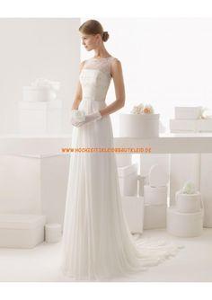 preiswert schlicht Bodenlange Brautkleider 2013
