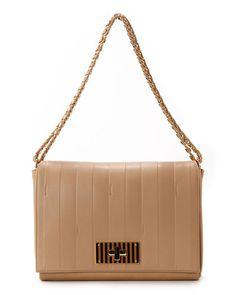 FENDI  Paris Pequin  Large Leather Shoulder Bag Clutch Wallet, Leather  Shoulder Bag, 30ca132d76