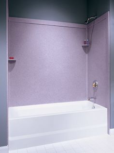 I cannot tell exactly what is in the corners, but I like the idea of trim around the solid surface wall covering. If they made something nice to cover the corner seams that would be excellent.
