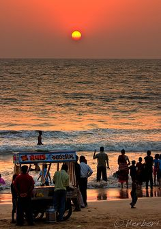 Juhu Beach sunset, Mumbai