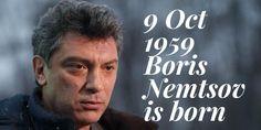 9 October Russian opposition leader Boris Nemtsov is born Boris Nemtsov, High School Students, Student Learning, October, History, Historia, College Guys