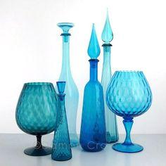 Empoli Glass Blue Group 2   Michele Varian