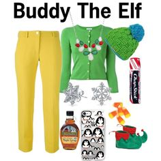 Buddy the Elf by ducklover654 on Polyvore featuring P.A.R.O.S.H., Versace, Buy Seasons, Bling Jewelry, Casetify and Chapstick