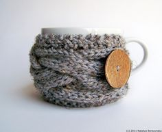 Grey Marble Cup Cozy