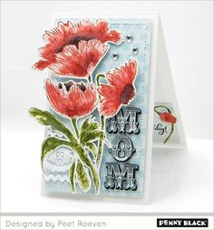 Mother's Day and feminine card designs featuring Penny Black stamps and dies---download complete supplies and instructions on our blog