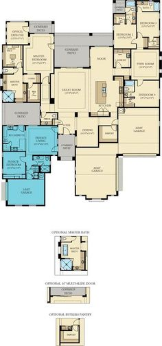 Lennar Layton Lakes Estates 5 bedroom 6 bath with NextGen Casita Guest House. Gilbert, AZ
