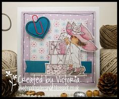 Vixx Handmade Cards: LILI OF THE VALLEY ~ ART PAD PARTY AND CAKE....