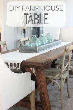 We Built A Farmhouse Dining Room Table.