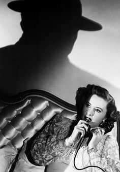 "msmildred: Barbara Stanwyck in ""Sorry, Wrong Number"", 1948."