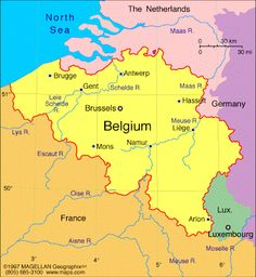 Carte de la Belgique Departement