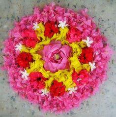 Pookalam-Onam Festival- Kerala.