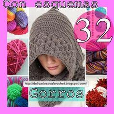 Delicadezas en crochet Gabriela: 32 Gorros para toda la familia en ganchillo y dos agujas con paso a paso y patrones gratis