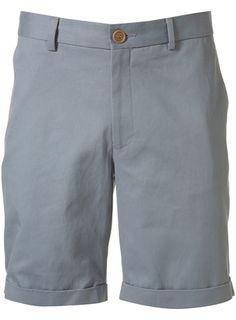 Stone Blue Tailored Shorts. #menswear #shorts