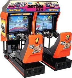 Daytona USA Arcade - one of the best racing games ever - 40 cars on a small track = fun