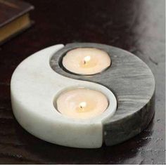 The Ying & Yang Candle Holder Brings Harmony to the Home #homedecor trendhunter.com