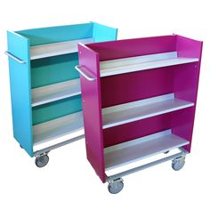 ExLIBRIS BOOK book trolley for librariesExlibris book trolley is available in three versions. Small, Medium and Large. 3 movable shelves with bracket for book supports.