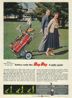 1955 Bag Boy Golf Advertising