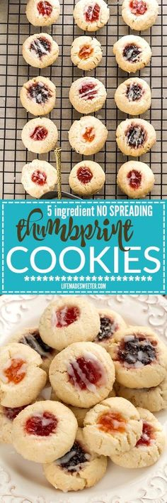 5 Ingredient Shortbread Thumbprint Cookies - my favorite dough for making these classic cookies! Best of all there's NO spreading or CHILLING required!! 7 fun ways to decorate perfect for your holiday cookie platter!5 Ingredient Shortbread Thumbprint Cookies - my favorite dough for making these classic cookies! Best of all there's NO spreading or CHILLING required!! 7 fun ways to decorate perfect for your holiday cookie platter!