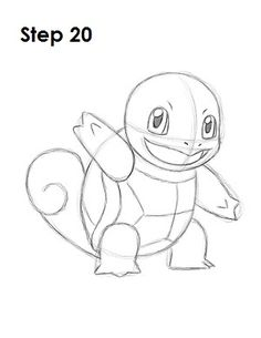 How to Draw Squirtle 20