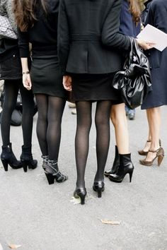 Originally from The Sartorialist - legs of French Vogue