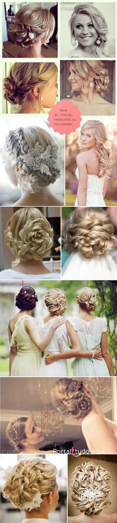 These up do's are stunning! Bride Hairstyles, Hairstyles Haircuts, Bridal Hair And Makeup, Hair Makeup, How To Make Hair, Bridesmaid Hair, Hair Day, Hair Designs, Hair And Nails