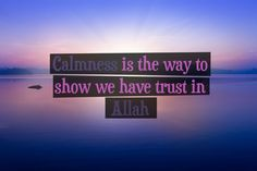 Calmness is the way to show we have trust in Allah. #Islam #Quotes #Moslim #Allah  Quote by moslim.co, picture by Andreas Krappweis