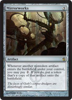 Mirrorworks-x4-Magic-the-Gathering-4x-Mirrodin-Besieged-mtg-card-lot-rare-spell