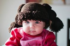 Cabbage patch kid wig. Diy crochet i think i died of cute