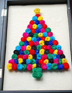 DIY Christmas Pom Pom Art