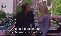 - Não é um grande falador hein  - depende do tópico