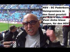 """Der Blanke Hans mit seinem Kommentar direkt nach dem Abpfiff der Bundesligapartie Hamburger SV - SC Paderborn 07 (Zitat: """"Dicke blaue Augen für den HSV"""")"""
