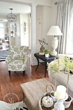 GET THE LOOK... REFINED FARMHOUSE STYLE. My bent is a little formal and classic but it's made relaxed and welcoming with farmhouse charm. Get the look