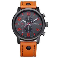7b9e810e5bc NEW CURREN Casual mens watches top brand luxury Leather Men Military Wrist  Watch Men Sports Quartz-Watch Relogio Masculino 8192