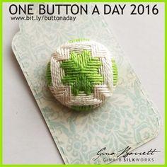Day 77: Shamrock #onebuttonaday by Gina Barrett