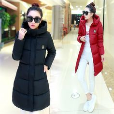 7-14 days To Moscow Free shipping 2016 New Women's Winter Jacket Down Cotton Jacket Slim Parkas Ladies Coats Plus Size M-XXXL #>=#>=#>=#>=#> Click on the pin to check out discount price, color, size, shipping, etc. Save and like it!