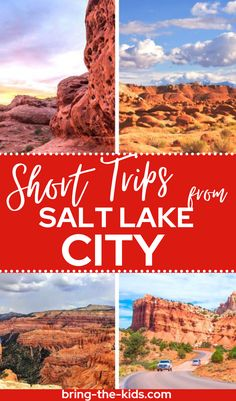 A list of the best short trips from Salt Lake City from Utah Adventures all in one place. Looking to get away from the city for a while? Here are 12 places that you should consider for a short getaway from Salt Lake City. Great for weekend trips from Salt Lake and short family vacations from Salt Lake City. Utah Vacation, Family Vacations, Weekend Trips, Day Trips, Zion Utah, Utah Camping, Utah Adventures, Cedar City, Lake Powell