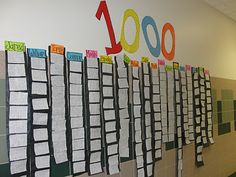 the 100 challenge! Each student has an opportunity to write their numbers to 1000! Once completed correctly, they go on the wall of fame as well as get a treat!