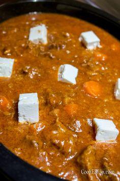 Κοκκινιστό με τυριά στο φούρνο ⋆ Cook Eat Up! Curry, Ethnic Recipes, Food, Curries, Essen, Meals, Yemek, Eten
