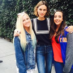 """chungit-up: """" Alexa Chung with some fans in New York 