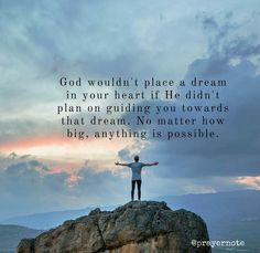 All things are possible with God! Humble thyself and glorify his name in all things.