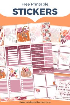 Free Planner, Planner Pages, Happy Planner, Printable Planner Stickers, Free Printables, Printable Calendars, Discbound Planner, Bullet Journal Cover Ideas, Watercolor Images