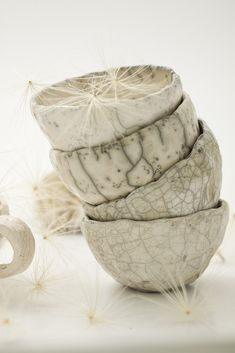 Marika Akilova, White Raku Bowls | Flickr - Photo Sharing!