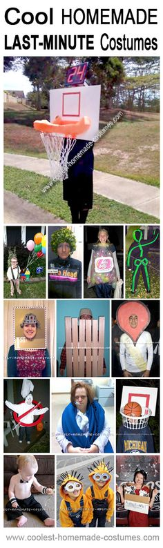 Top 14 Last-Minute Halloween Costumes - Coolest Homemade Costume Contest