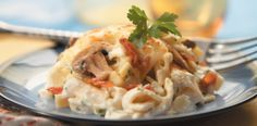 Swiss Noodle Bake with Reames noodles