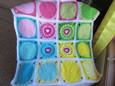 BABY BLANKET with HEARTS. Adorable Baby Blanket by Bluetulipgifts