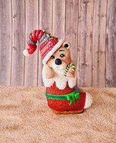Porte serviette de Noël en fimo. Creations, Towel Rail, Napkins