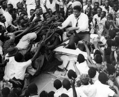 "In his 1964 tour of West Africa, fans in Lagos chanted that he was the ""king of the world"""